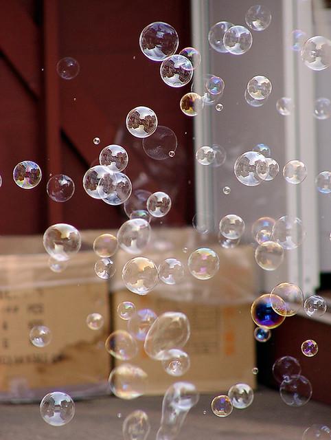 Blown bubbles...