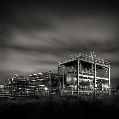 longexposure blackandwhite night square rouge industrial michigan marathon detroit refinery criticalinfrastructure