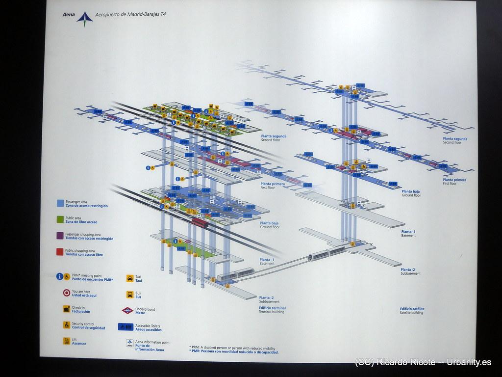 Mapa Aeropuerto Barajas T4.Plano Pmrs Aeropuerto De Barajas Terminales T4 Y T4s Flickr
