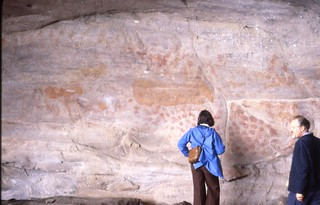 Rock Paintings at Elands Bay Cave, South Africa