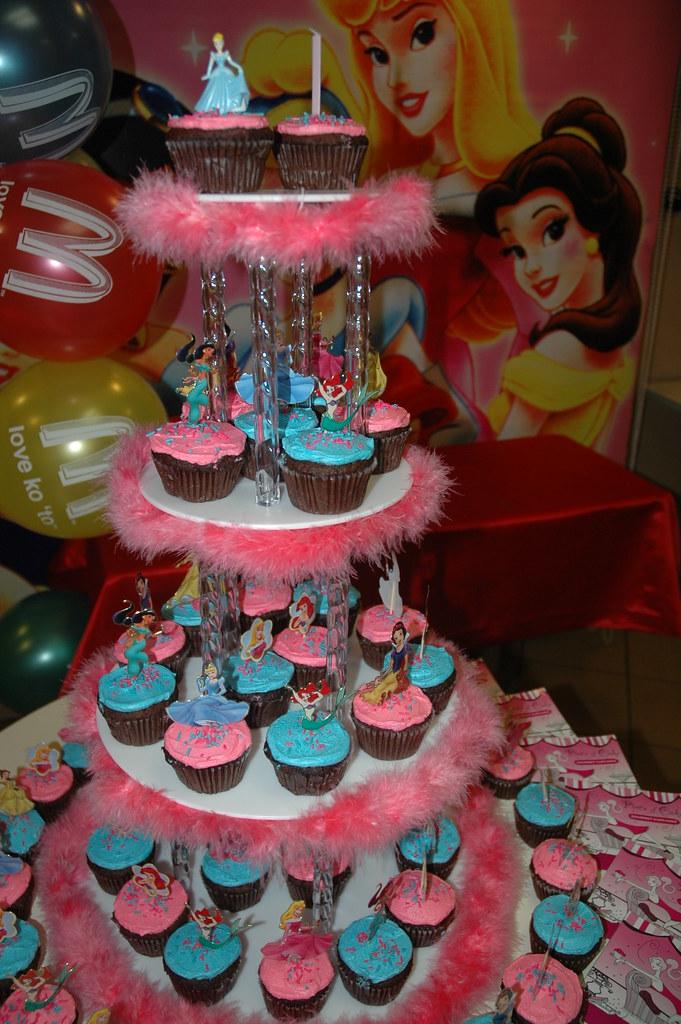 Disney Princess Birthday Cupcake Tower