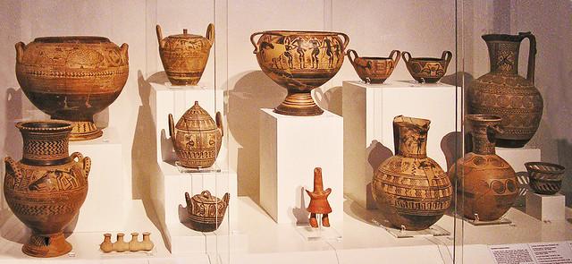 Geometrica ceramica Museo Arqueologico Nacional de Atenas Grecia 173