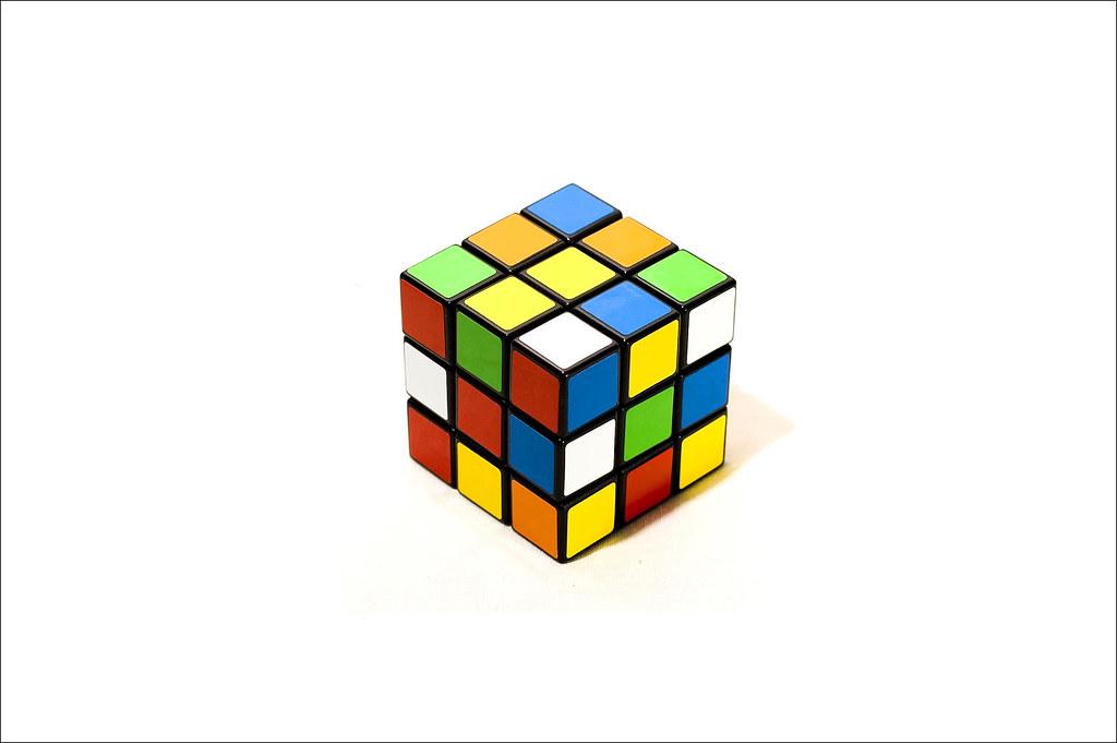 Rubik S Cube Wallpaper Studio Shot Emilio Blanco Flickr