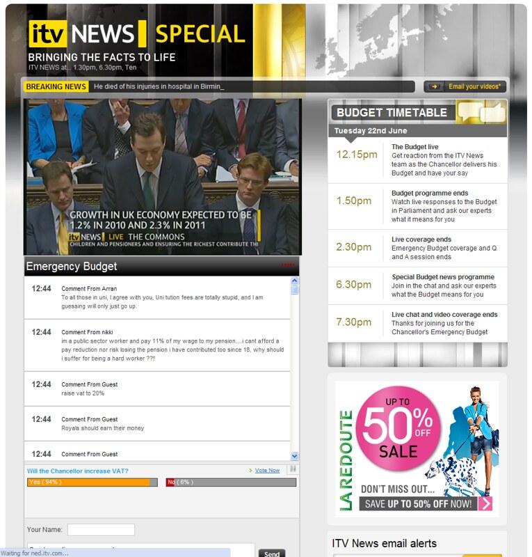 ITV.com Emergency Budget Live Coverage