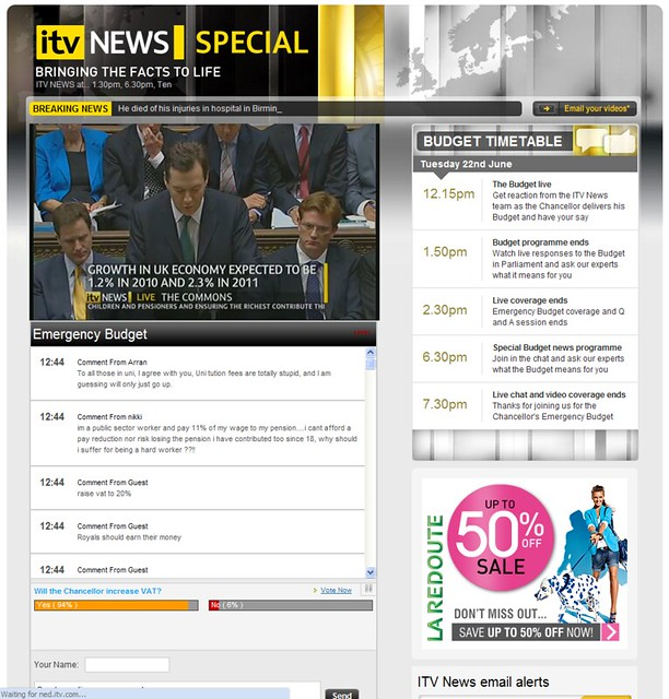 ITV.com Emergency Budget Live Coverage