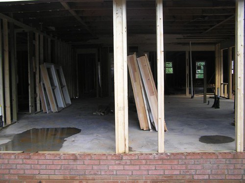 Looking from back of house at entry to laundry (on left) and kitchen (on right) | by shister
