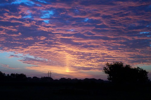 2003 morning sky orange cloud sunrise louisiana purple outdoor scenic sunpillar erath 7711 highway339