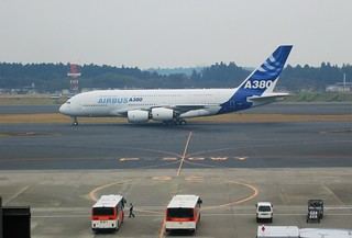 Airbus 380 in Tokyo