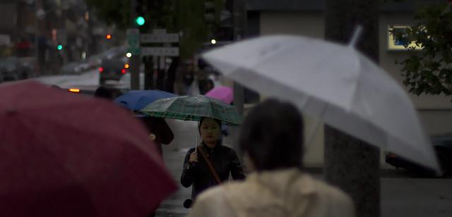 Rain in Japantown, San Francisco (2010)
