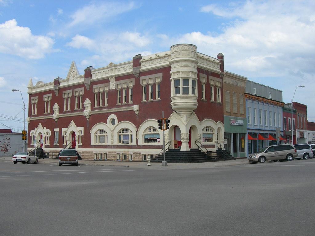 c.1916 Main Street, Old Cars, Concordia, KS, Message, Old