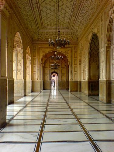 Beautiful Interior Of Badshahi Mosque   by spearhawk