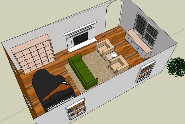 ... Living Room   Playing Around With Google SketchUp | By Jennyology