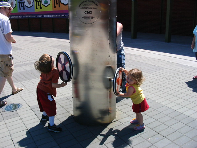 Gavin and Leilani play with Wheels