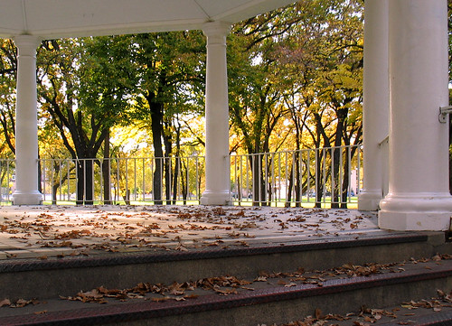 autumn trees color leaves temple fallcolors gazebo northdakota pillars fargo vivaldi islandpark changingseasons zip58103