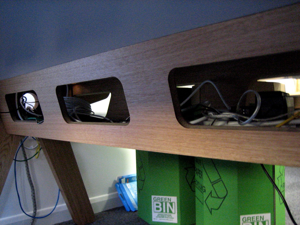 Under Desk Cable Management Andy Budd Flickr