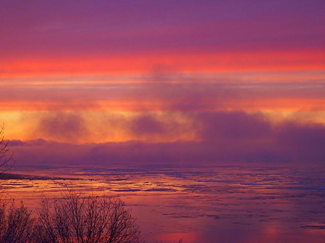 Christmas sunset 2 in Alaska, USA
