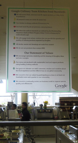 Google Culinary Team Kitchen Food Standards | by peterme