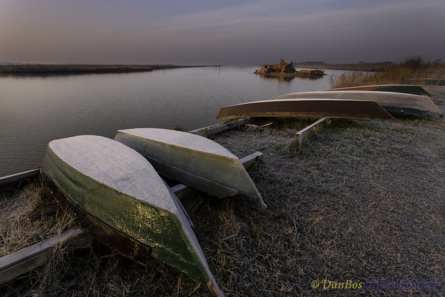 Early winter morning in the Comacchio Lagoon