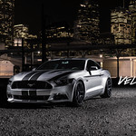 Silver Mustang on Velgen Wheels VMB5 Matte Gunmetal 20x9 & 20x10.5