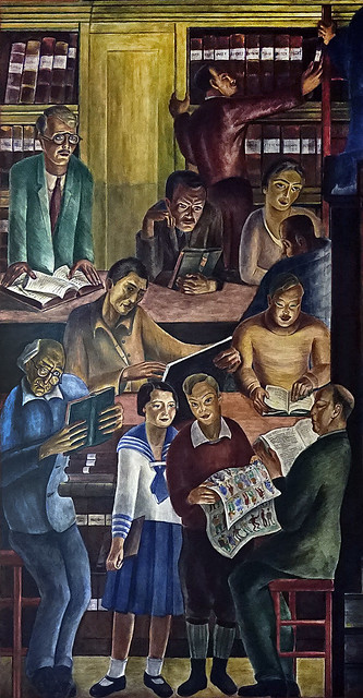 """""""Library"""" • Coit Tower, 1934"""