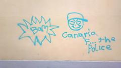 F... the police graffiti