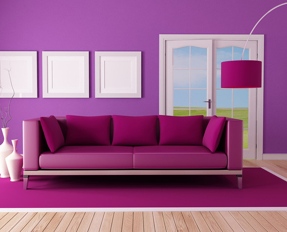 Living Room Painting Ideas Blue Purple Fusion Walls Pa Flickr