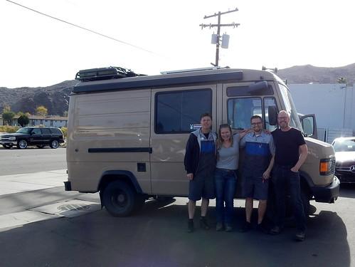 Palm Springs - Mercedes garage - met Nick en Mr Dieleman