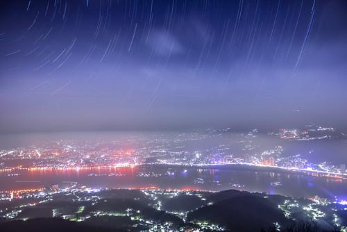 light cloud mountain fog outdoors scenery taiwan nightview 台灣 觀音山 wugu startrack guanyinmountain 星軌 硬漢嶺 newtaipei 新北市 五股區 平流霧