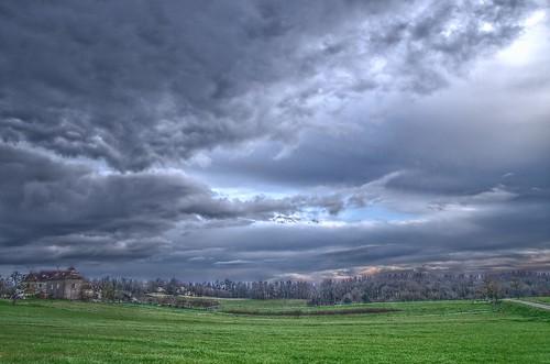 sky green weather clouds landscape lot temps hdr causse quercy pentaxk5 nuzéjouls