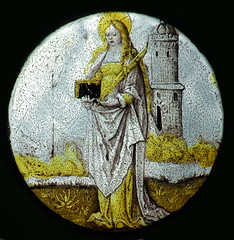 St Barbara and tower (continental)