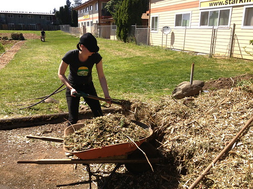 Outgrowing Hunger Community Garden_Shoveling | by ClimateTrust