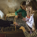 Children discovering history of printmaking   © Robin Mair
