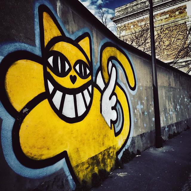 CHAT #mchat #chat #cat #wall #wallart #street #StreetArt #streetartparis #xiii #paris #france #wallpainting #painting #artist @terrain_minet_mrchat #mrchat #graffiti