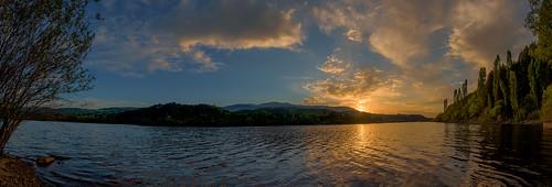 sunset panorama clouds nikon dam bulgaria d750 tamron vc 2470 pancharevo