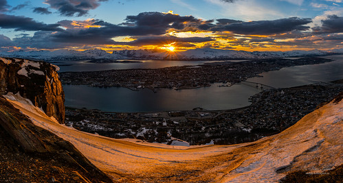 "Panorama shot from ""Fjellheisen"" Tromsø 
