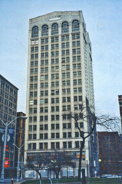 Detroit Michigan  ~ Kresge Headquarters Building ~  AKA ~ Kales Building  ~ My Old Photo