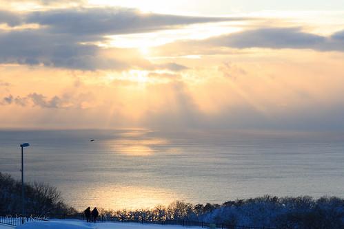 winter sea japan hokkaido 北海道 日本 hakodate 冬 海 函館 函館山 mthakodate