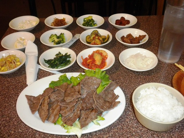 Korean beef dinner, bulgogi