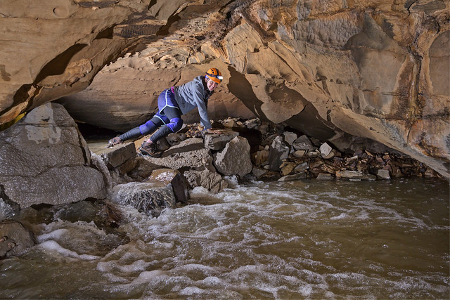 Joelle Marlin, Garretts Mill Cave, Overton County, Tennessee