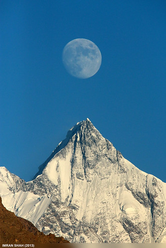pakistan sky moon snow mountains ice clouds landscape location elements tele hunza summits aliabad gilgitbaltistan