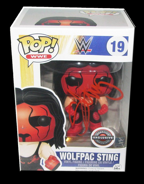 Sting Autographed WWE POP! Funko Gamestop Exclusive Vinyl Figure