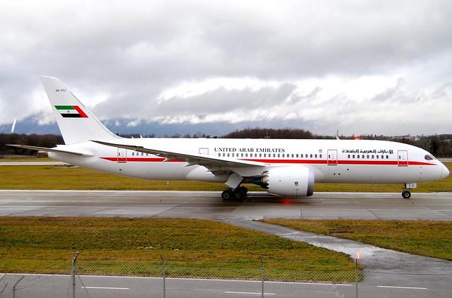 Abu Dhabi Amiri Flight. A6-PFC. Boeing 787-8 Dreamliner.