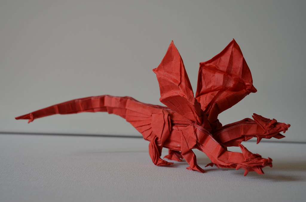 26 Non-Traditional but Still Awesome Origami Dragons | 678x1024