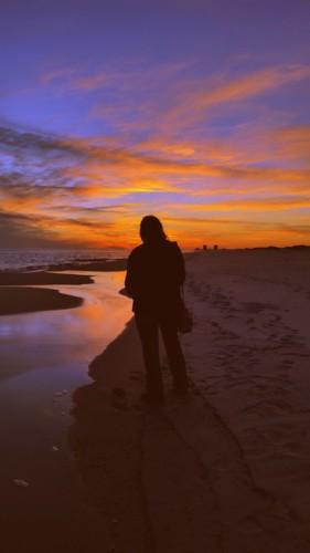 ocean sunset reflection silhouette clouds twilight sand gulf shoreline shore bae tidepool cloudporn gulfcoast skyporn galaxys5