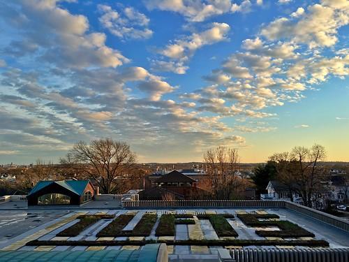 sunset sky boston clouds massachusetts somerville tufts medford pw tuftsuniversity tischlibraryroof