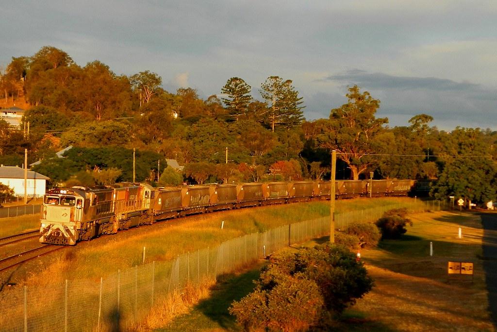 Aurizon - Sunset Empty Coal Service by Shawn Stutsel