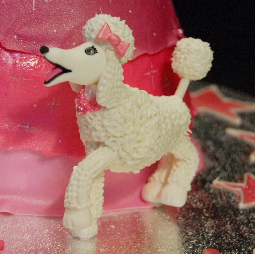 Surprising Ellas Barbie Fashion Fairytale Birthday Cake Poodle Clo Flickr Funny Birthday Cards Online Aeocydamsfinfo