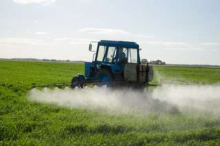 Tractor Fertilize Field Pesticide And Insecticide | by aqua.mech