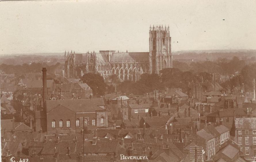 View from St.Mary's tower, Beverley 1909 (archive ref PO-1-14-226)