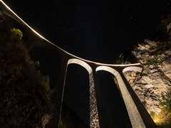 01.11.2015, Landwasser viaduct at night IV., Tiefencastel - Filisur